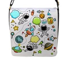 Sketch Set Cute Collection Child Flap Messenger Bag (l)