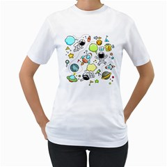 Sketch Set Cute Collection Child Women s T Shirt (white)