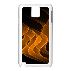 Background Light Glow Abstract Art Samsung Galaxy Note 3 N9005 Case (white)