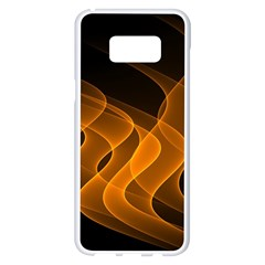 Background Light Glow Abstract Art Samsung Galaxy S8 Plus White Seamless Case