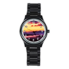 Great Smoky Mountains National Park Stainless Steel Round Watch