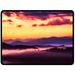 Great Smoky Mountains National Park Double Sided Fleece Blanket (large)