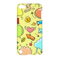 Cute Sketch Child Graphic Funny Apple Ipod Touch 5 Hardshell Case