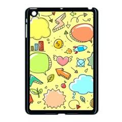 Cute Sketch Child Graphic Funny Apple Ipad Mini Case (black)