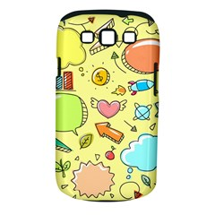 Cute Sketch Child Graphic Funny Samsung Galaxy S Iii Classic Hardshell Case (pc+silicone)