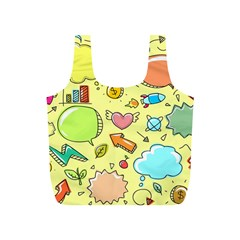 Cute Sketch Child Graphic Funny Full Print Recycle Bags (s)