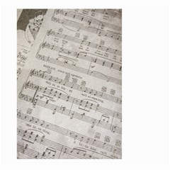Sheet Music Paper Notes Antique Large Garden Flag (two Sides)