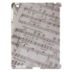 Sheet Music Paper Notes Antique Apple Ipad 3/4 Hardshell Case (compatible With Smart Cover)