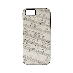 Sheet Music Paper Notes Antique Apple Iphone 5 Classic Hardshell Case (pc+silicone)