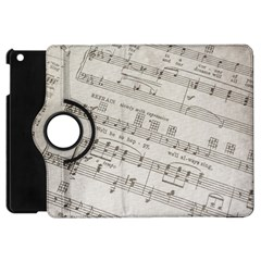 Sheet Music Paper Notes Antique Apple Ipad Mini Flip 360 Case