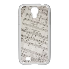 Sheet Music Paper Notes Antique Samsung Galaxy S4 I9500/ I9505 Case (white)