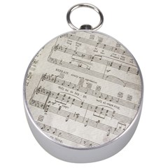 Sheet Music Paper Notes Antique Silver Compasses