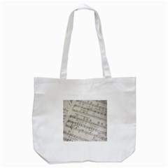 Sheet Music Paper Notes Antique Tote Bag (white)
