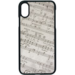 Sheet Music Paper Notes Antique Apple Iphone X Seamless Case (black)