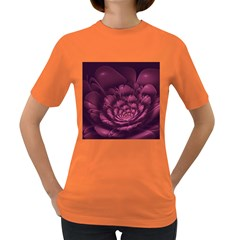 Fractal Blossom Flower Bloom Women s Dark T Shirt
