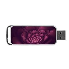 Fractal Blossom Flower Bloom Portable Usb Flash (one Side)