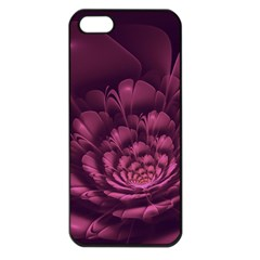 Fractal Blossom Flower Bloom Apple Iphone 5 Seamless Case (black)