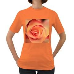 Rose Orange Rose Blossom Bloom Women s Dark T Shirt