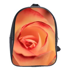 Rose Orange Rose Blossom Bloom School Bag (xl)