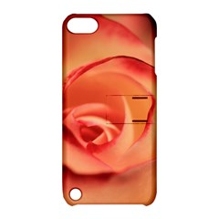 Rose Orange Rose Blossom Bloom Apple Ipod Touch 5 Hardshell Case With Stand