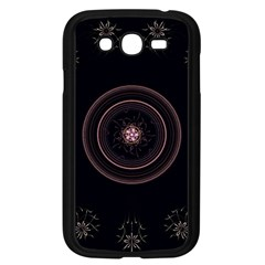 Fractal Flowers Pattern Fantasy Samsung Galaxy Grand Duos I9082 Case (black)