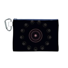 Fractal Flowers Pattern Fantasy Canvas Cosmetic Bag (m)