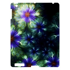 Fractal Painting Blue Floral Apple Ipad 3/4 Hardshell Case