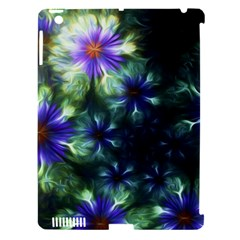 Fractal Painting Blue Floral Apple Ipad 3/4 Hardshell Case (compatible With Smart Cover)