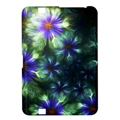 Fractal Painting Blue Floral Kindle Fire Hd 8 9