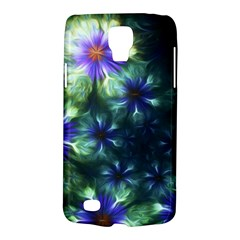 Fractal Painting Blue Floral Galaxy S4 Active