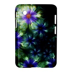 Fractal Painting Blue Floral Samsung Galaxy Tab 2 (7 ) P3100 Hardshell Case