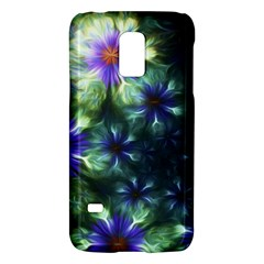 Fractal Painting Blue Floral Galaxy S5 Mini