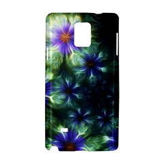 Fractal Painting Blue Floral Samsung Galaxy Note 4 Hardshell Case