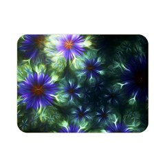 Fractal Painting Blue Floral Double Sided Flano Blanket (mini)