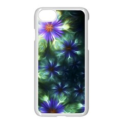 Fractal Painting Blue Floral Apple Iphone 8 Seamless Case (white)