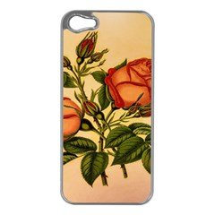 Vintage Flowers Floral Apple Iphone 5 Case (silver)