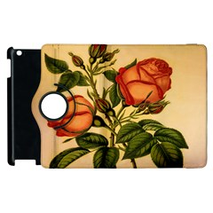 Vintage Flowers Floral Apple Ipad 2 Flip 360 Case
