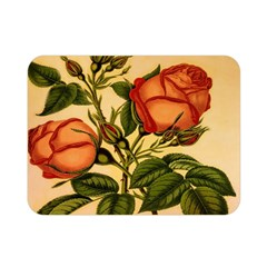 Vintage Flowers Floral Double Sided Flano Blanket (mini)