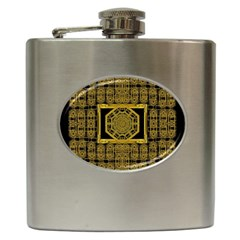 Beautiful Stars Would Be In Gold Frames Hip Flask (6 Oz)
