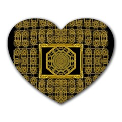 Beautiful Stars Would Be In Gold Frames Heart Mousepads