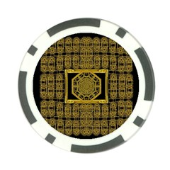 Beautiful Stars Would Be In Gold Frames Poker Chip Card Guard