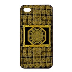 Beautiful Stars Would Be In Gold Frames Apple Iphone 4/4s Seamless Case (black)