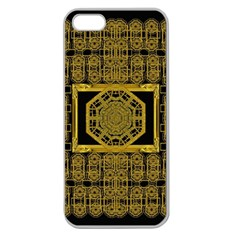 Beautiful Stars Would Be In Gold Frames Apple Seamless Iphone 5 Case (clear)