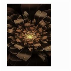Fractal Flower Floral Bloom Brown Large Garden Flag (two Sides)