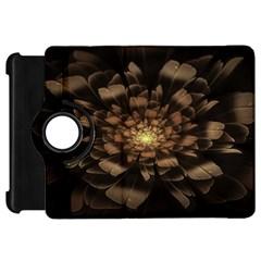 Fractal Flower Floral Bloom Brown Kindle Fire Hd 7