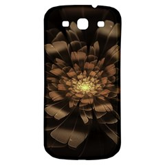 Fractal Flower Floral Bloom Brown Samsung Galaxy S3 S Iii Classic Hardshell Back Case