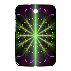 Fractal Purple Lime Pattern Samsung Galaxy Note 8 0 N5100 Hardshell Case