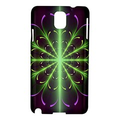 Fractal Purple Lime Pattern Samsung Galaxy Note 3 N9005 Hardshell Case