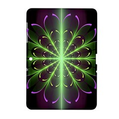 Fractal Purple Lime Pattern Samsung Galaxy Tab 2 (10 1 ) P5100 Hardshell Case