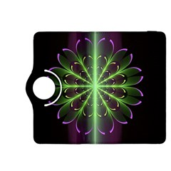 Fractal Purple Lime Pattern Kindle Fire Hdx 8 9  Flip 360 Case